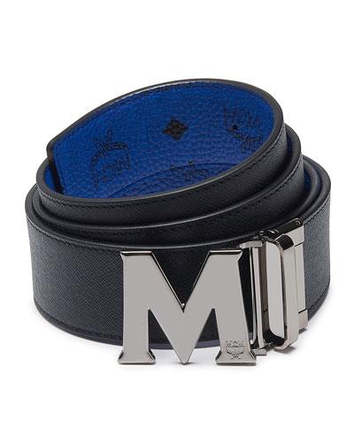 Claus Reversible Saffiano Leather Belt