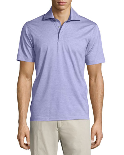 1x1 Knit Polo Shirt, Lavender