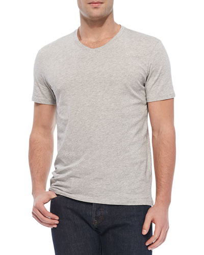 V-Neck Jersey T-Shirt, Gray