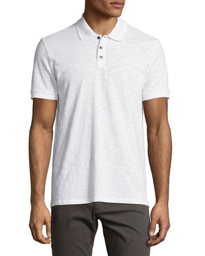 Slub Polo Shirt, White