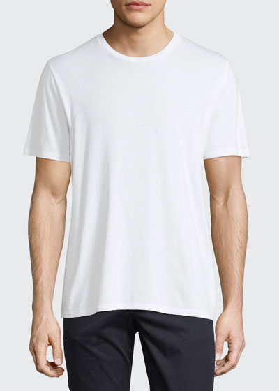 Short-Sleeve Crewneck Jersey T-Shirt, White