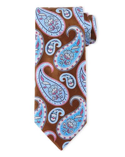 Large Pine Paisley-Print Tie