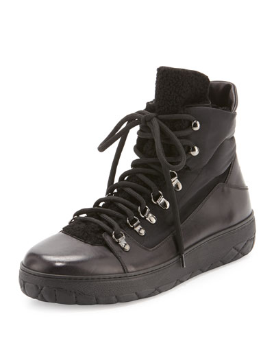 Winter Shearling-Tongue Boot, Black