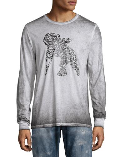 Faded Cherub Logo Long-Sleeve T-Shirt