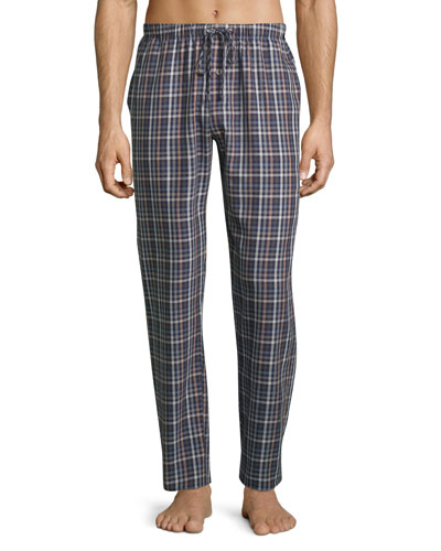 Paolo Flannel Lounge Pants, Toffee Check