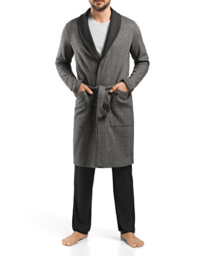 Davide Reversible Herringbone Robe