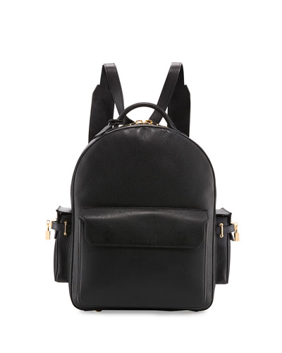 PHD Men's Leather Backpack, Black