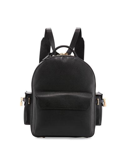 PHD Men's Leather Backpack, Black
