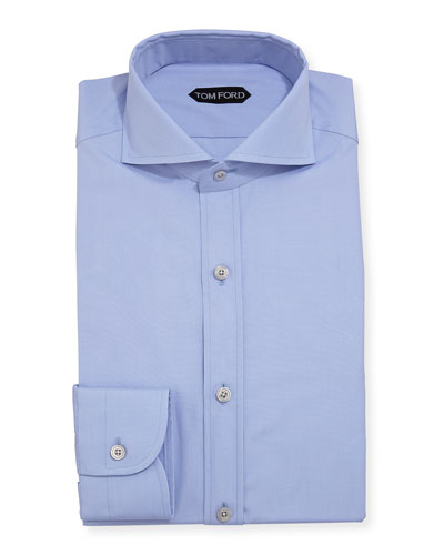 Yarn-Dyed Fine Poplin Dress Shirt