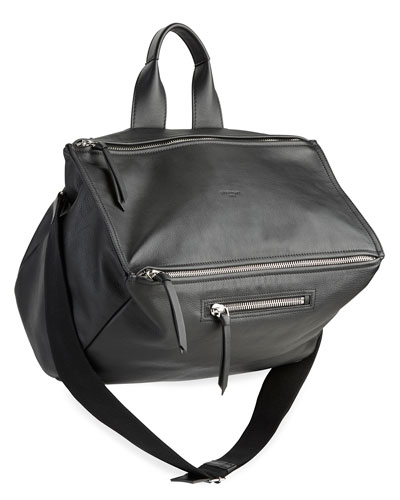 Pandora Leather Crossbody Bag, Black