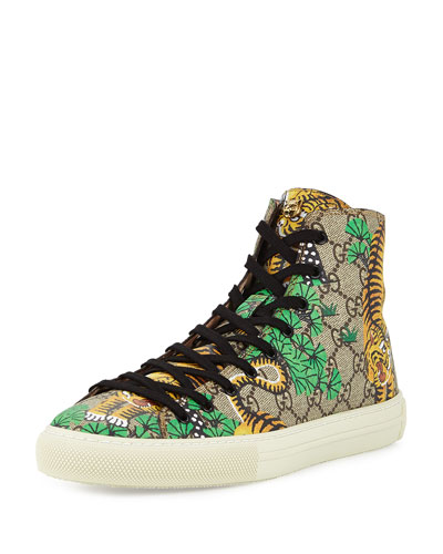 Bengal Canvas High-Top Sneaker, Multicolor