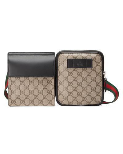 GG Supreme Web Belt Bag, Beige/Ebony