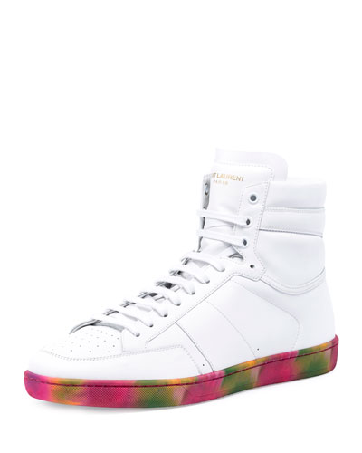 SL/10H High-Top Sneaker w/Tie-Dye Sole