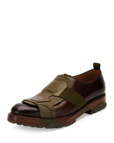 Faber Runway Slip-On Shoe, Mahogany/Green