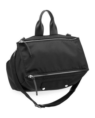 Men's Pandora Canvas Crossbody Bag, Black
