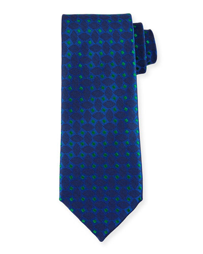 Woven Box Silk Tie, Purple