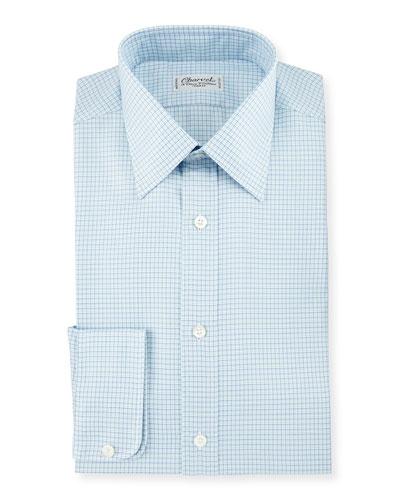 Check Plaid Dress Shirt, Blue