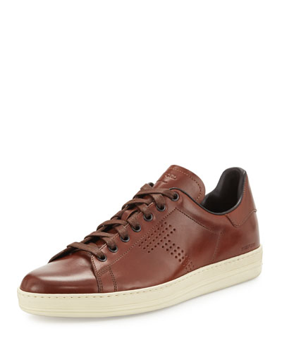 Warwick Leather Low-Top Sneaker, Brown