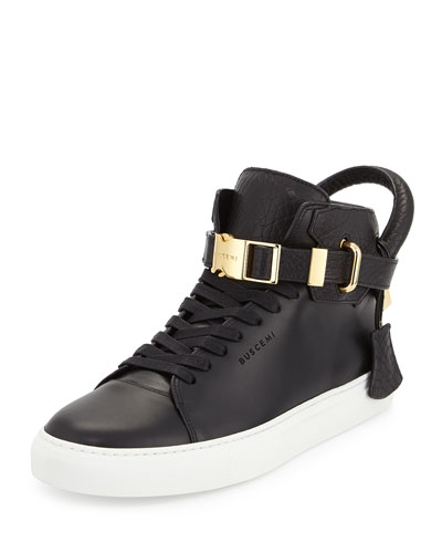100mm Bison High-Top Sneaker
