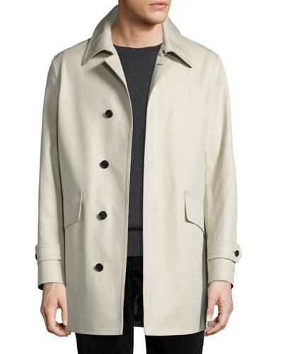 Swanley Cotton Gabardine Raincoat, Stone