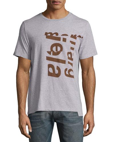 Broken Logo Paneled T-Shirt