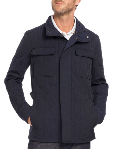 Quilted Field Jacket, Navy