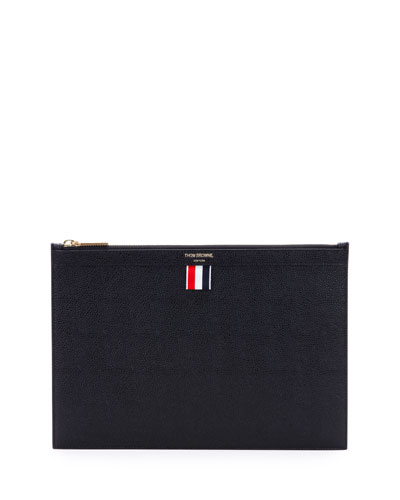 Leather Tablet Case w/Zip, Black