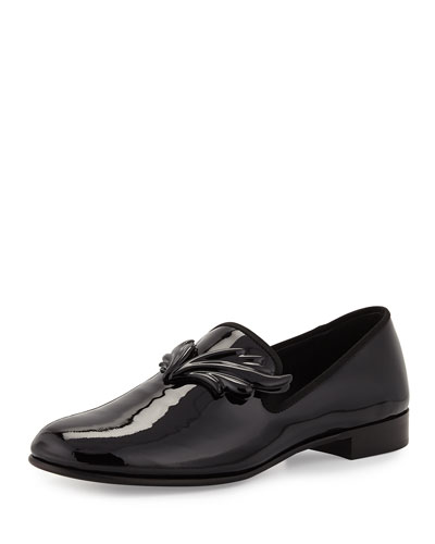 Kevin Patent Wing Formal Loafer, Nero