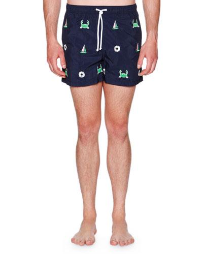 Icon Embroidered Swim Shorts