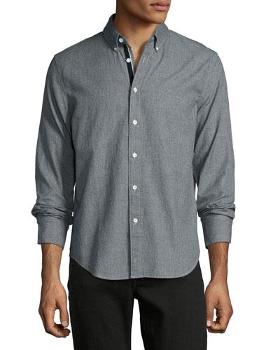 Yokohama Flannel Jaspé Shirt, Charcoal