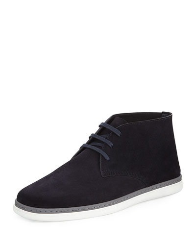 Newport Perforated Suede Chukka Boot, Navy