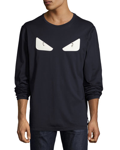 Monster Eyes Long-Sleeve T-Shirt, Navy