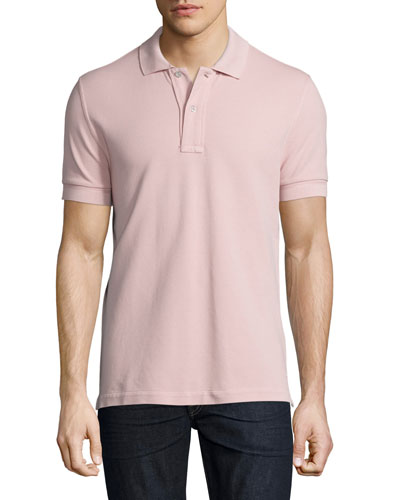 Pique Polo Shirt, Light Pink