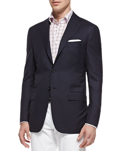 Three-Button Wool Blazer