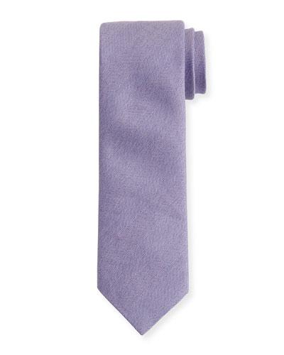 Heathered Herringbone Silk Tie