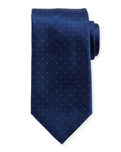 Satin Pin-Dot Silk Tie