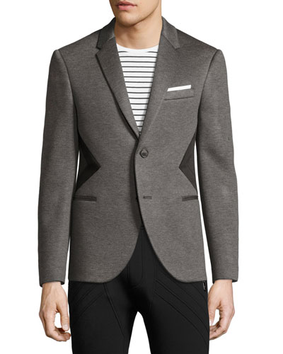 Modernist-Stripe Sport Jacket, Gray