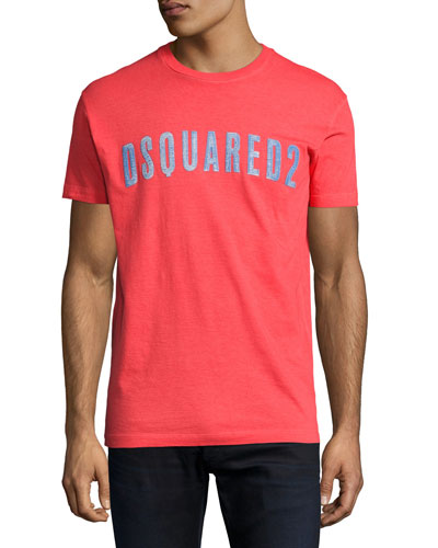 Faded Logo Graphic T-Shirt, Red
