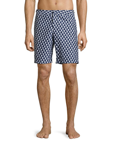Dane 2 Graphic Swim Trunks, Navy