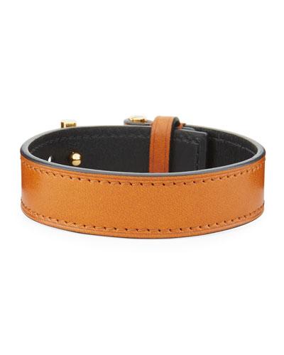 Men's Leather T-Buckle Bracelet