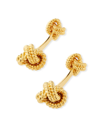 Twisted Knot Cuff Links, Golden