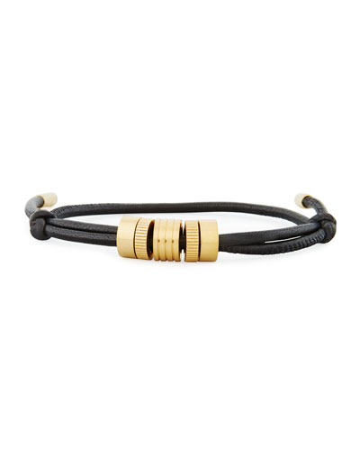 Men's Multi-Ring Leather Bracelet