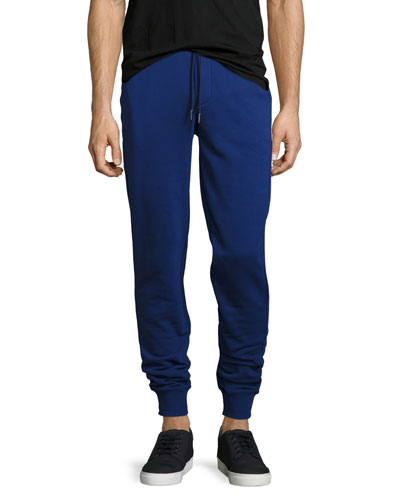 Drawstring Jogger Sweatpants, Navy