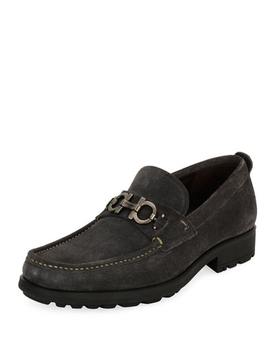 Suede Lug-Sole Loafer
