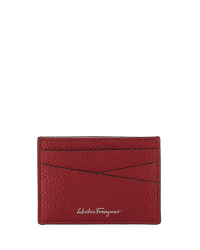 Firenze Leather Card Case, Red