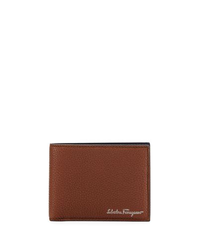 Firenze Leather Bi-Fold Wallet, Brown