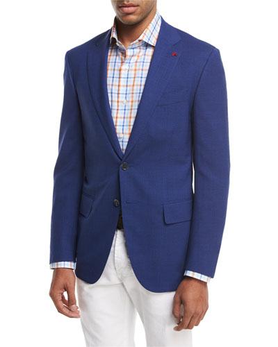Sanita Super 170s Wool Two-Button Sport Jacket, Blue