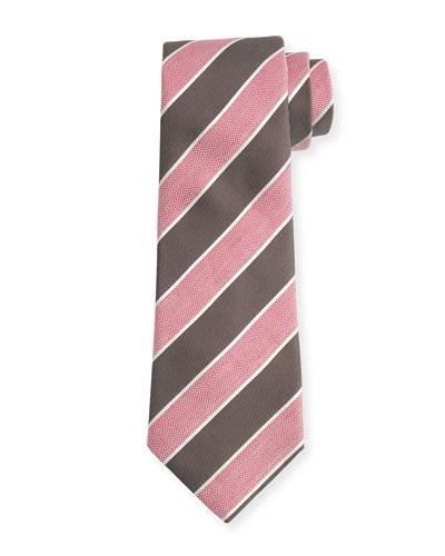 Pastel Wide-Stripe Silk Tie