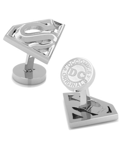 Stainless Steel Superman Cuff Links