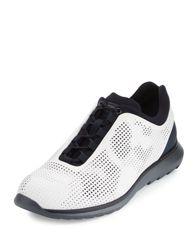 Techmerino Rubberized Sneaker, White